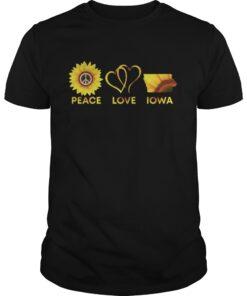 Peace Love Iowa Sunflower shirt