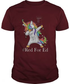 RedForEd Unicorn Dabbing shirt
