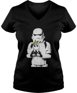 Star Wars Stormtrooper and Unicorn ladies v-neck