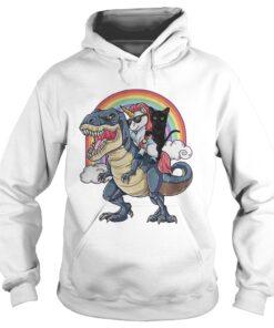 TRex Unicorn Cat Boss Rainbow hoodie
