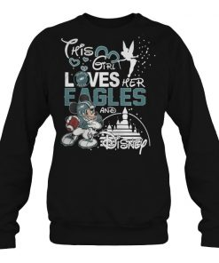 This girl loves her Eagles and Disney shirt