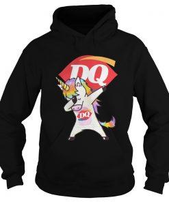 Unicorn Dabbing Dairy Queen hoodie