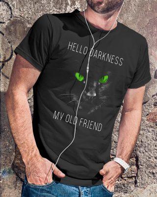 Cat green hello darkness my old friend shirt
