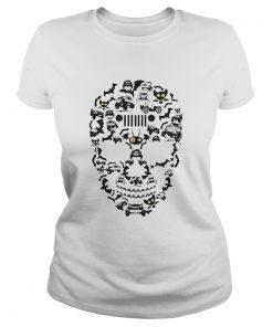 Ladies Tee Jeep Skull – Halloween shirt