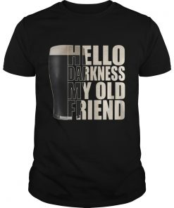 Guys Official Guinness beer hello darkness my old friend shirt