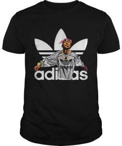 Guys Tupac Shakur adidas shirt