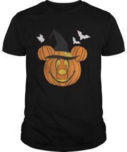Guys Mickey Mouse Pumpkin Halloween shirt