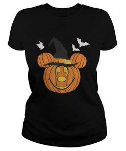 Ladies tee Mickey Mouse Pumpkin Halloween shirt