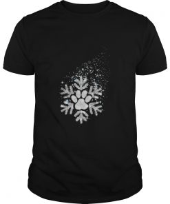 Guys Paw dog snowflake shirt