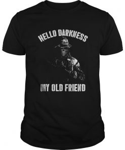 Guys Veteran hello darkness my old friend shirt