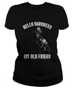 ladies tee Veteran hello darkness my old friend shirt