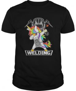 Guys Dabbing Unicorn Weldling shirt