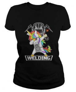 Ladies tee Dabbing Unicorn Weldling shirt