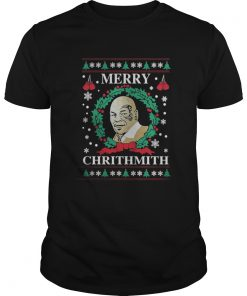 Guys Mike Tyson Merry Chrithmith sweat shirt
