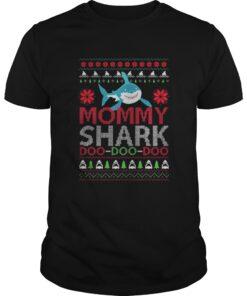 Guys Mommy shark Doo Doo Doo Christmas Sweat shirt