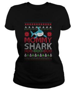Laides tee Mommy shark Doo Doo Doo Christmas Sweat shirt