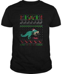 Guys Dinosaurs Ugly Christmas sweat shirt