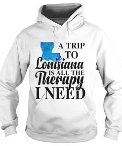 A trip to Lonisiana is all the therapy i need hoodies