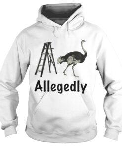 Allegedly Ostrich Flightless Bird Ostrich Lover Gift hoodie
