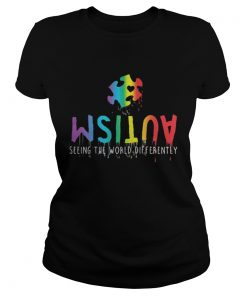 Autism seeing the world differently Ladies Tee