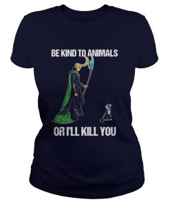 Be Kind To Animals Or I'll Kill You Ladies Tee