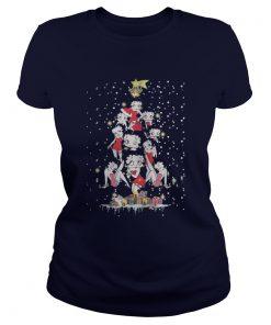 Betty Boop Christmas tree Ladies Tee