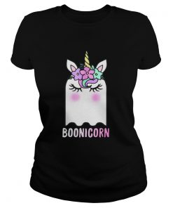Boonicorn Unicorn Ghost Unicorn Halloween Shirt for Girls Ladies Tee