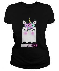 Boonicorn Unicorn Ghost Unicorn Halloween Shirt for Girls Ladies Tee