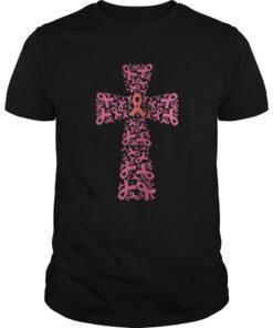Breast Cancer Ribbon Cross Guys