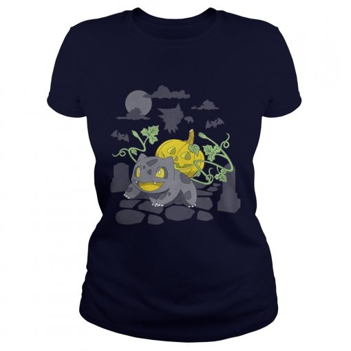 Bulbasaur lantern pumpkin Ladies Tee