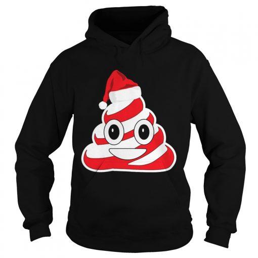 Candy Cane Poop Emoji hoodie