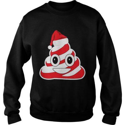 Candy Cane Poop Emoji sweatshirt