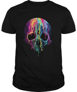 Colorful Melting Skull Art Graphic Halloween Guys