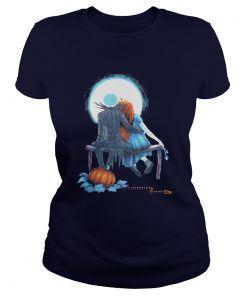 Couple Halloween Jackk And Sally Ladies Tee