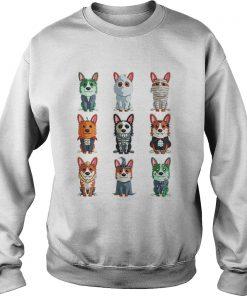 Cute Corgi Halloween TShirt Funny Halloween Gift sweatshirt