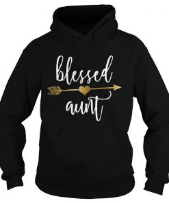 Cute Gold Arrow Blessed Aunt Shirt Thanksgiving hoodie