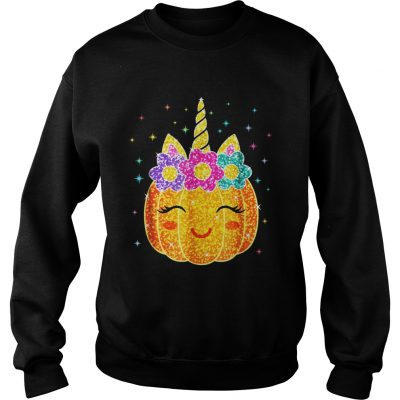 Cute Unicorn Pumpkin Halloween sweatshirt