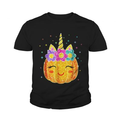 Cute Unicorn Pumpkin Halloween youth tee