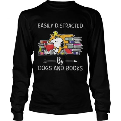 Easily distracted by dogs and books Longsleeve Tee