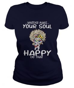 Elephant hippie peace whatever makes your soul happy do that Ladies Tee