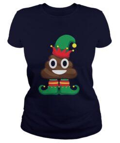 Elf Poop Emoji Ladies Tee