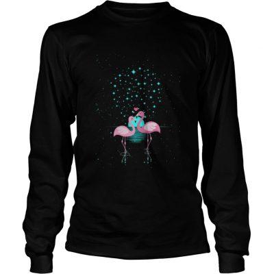 Flamingo Under The Night Stars Longsleeve Tee