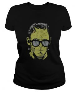 Frankenstein's monster Hipster Halloween costume Ladies Tee