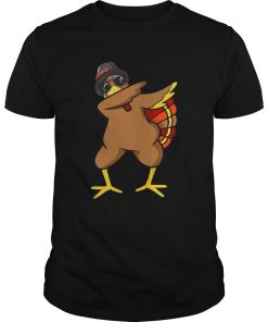 Funny Dabbing Turkey Thanksgiving T Shirt Outfit Clothes Guys