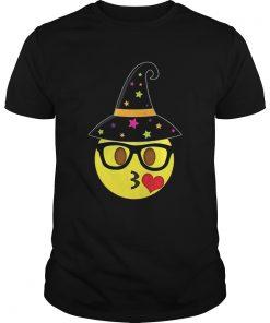 Funny Halloween Emoji Witch Nerd Kissy Face Guys