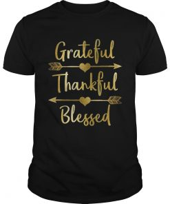 Gold Grateful Thankful Blessed Thanksgiving Guys