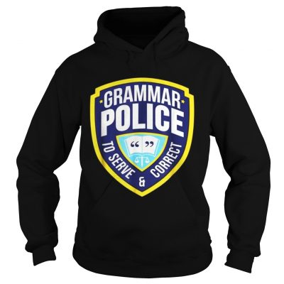 Grammar Police Funny Halloween Costume Hoodie