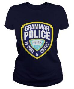 Grammar Police Funny Halloween Costume Ladies Tee