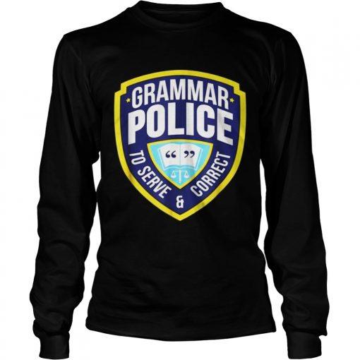 Grammar Police Funny Halloween Costume Longsleeve Tee