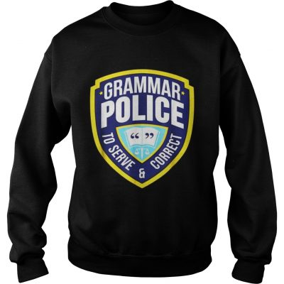 Grammar Police Funny Halloween Costume Sweatshirt